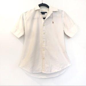 [RALPHLAUREN] 100% Cotton button down shirt top 6